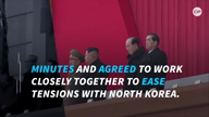 Moon and Abe agree to work together to deal with North Korea